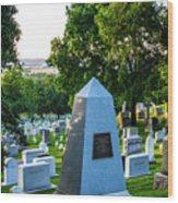 Graves At Sunrise Arlington Cemetery Wood Print