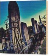 Gravesite Wood Print