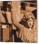 Graveyard Angel. Wood Print