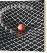 Gravity Simulation Wood Print