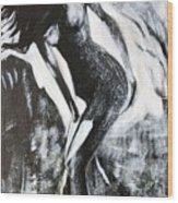 Gray Desert Wood Print