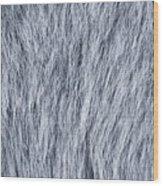 Gray Fake Fur Horizontal Wood Print