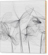 Grayish Spring - Modern Art Wood Print