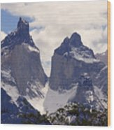 Gray Glacier Chile Wood Print