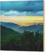 Gray Mountain Wood Print