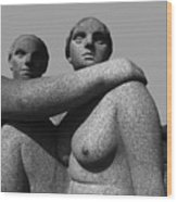 Gray Nudes In Oslo Wood Print