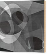 Gray On Gray Wood Print