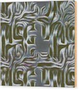 Gray Pattern,abstraction Wood Print
