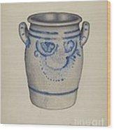 Gray Pottery Jar Wood Print