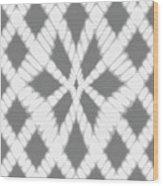 Gray Twisted Braids Wood Print