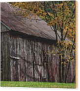 Gray Weathered Barns Number Three Wood Print
