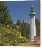 Grays Harbor Lighthouse H Wood Print