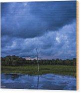 Grean Cay Storm 4 Wood Print