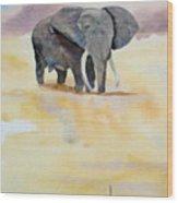 Great African Elephant  Wood Print