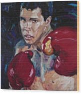 Great Ali Wood Print