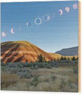 Great American Eclipse Composite 2 Wood Print