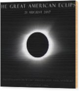 Great American Eclipse - Triptych Wood Print