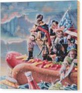 Great American Hot Dog Wood Print
