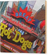 Great Charbroiled Hot Dogs Wood Print