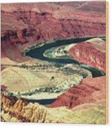 Great Color Colorado River Wood Print