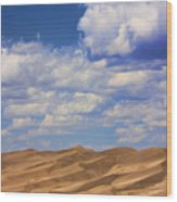 Great Colorado Sand Dunes Mixed View Wood Print
