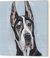 Great Dane Wood Print