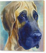 Great Dane Pup Wood Print