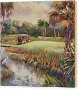 Great Day For Golf Wood Print