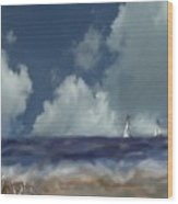 Great Day For Sailing Wood Print