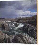 Great Falls - January 2011 Wood Print