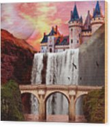 Great Falls Castle Wood Print