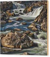 Great Falls Overlook #5 Wood Print