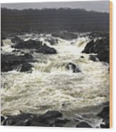 Great Falls Potomac River Maryland Wood Print