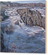 Great Falls Virginia Wood Print