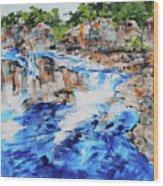Great Falls Waterfall 201826 Wood Print