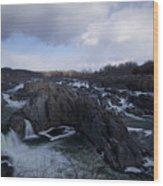 Great Falls Winter 2011 Wood Print
