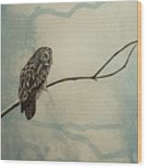 Great Gray Owl Wood Print