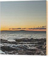 Great Head Beach Sunrise Wood Print
