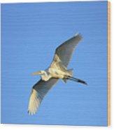 Great Heron In Flight II Wood Print