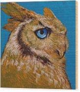 Gold Owl Wood Print