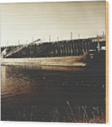 Great Lakes Iron Ore Freighter Wood Print