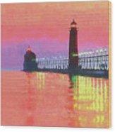 Great Lakes Light Wood Print