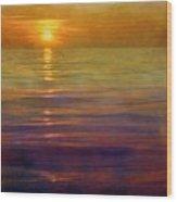 Great Lakes Setting Sun Wood Print