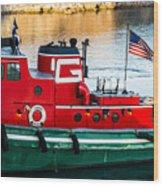 Great Lakes Towing Tug Florida Wood Print