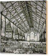 Great Market Hall Wood Print