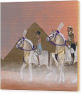 Great Pyramids And Nobility Wood Print