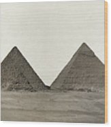Great Pyramids Wood Print
