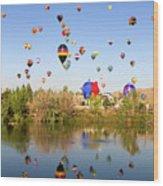 Great Reno Balloon Races Wood Print
