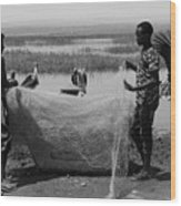 Great Rift Fishermen Wood Print