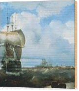 Great Roads At Kronstadt In 1836 715 H93 Ivan Konstantinovich Aivazovsky Wood Print